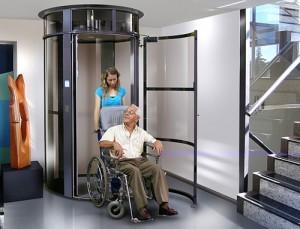 Ascensor Neumático Panorámico - Instalación para personas con movilidad reducida, apto silla de ruedas
